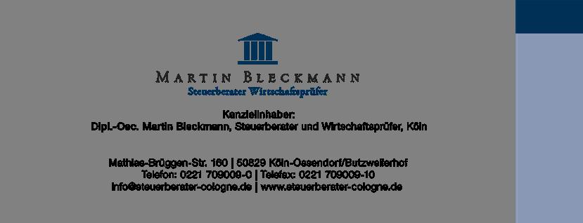 Logo von Foto von Steuerberater und Wirtschaftsprüfer Martin Bleckmann mit Kontaktdaten