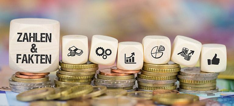 Zahlen und Daten als Symbol für eine Betriebswirtschaftliche Beratung